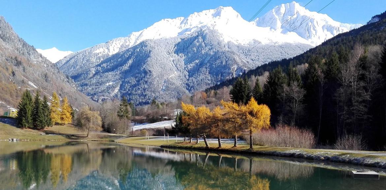 Lac du Bozel avec neige